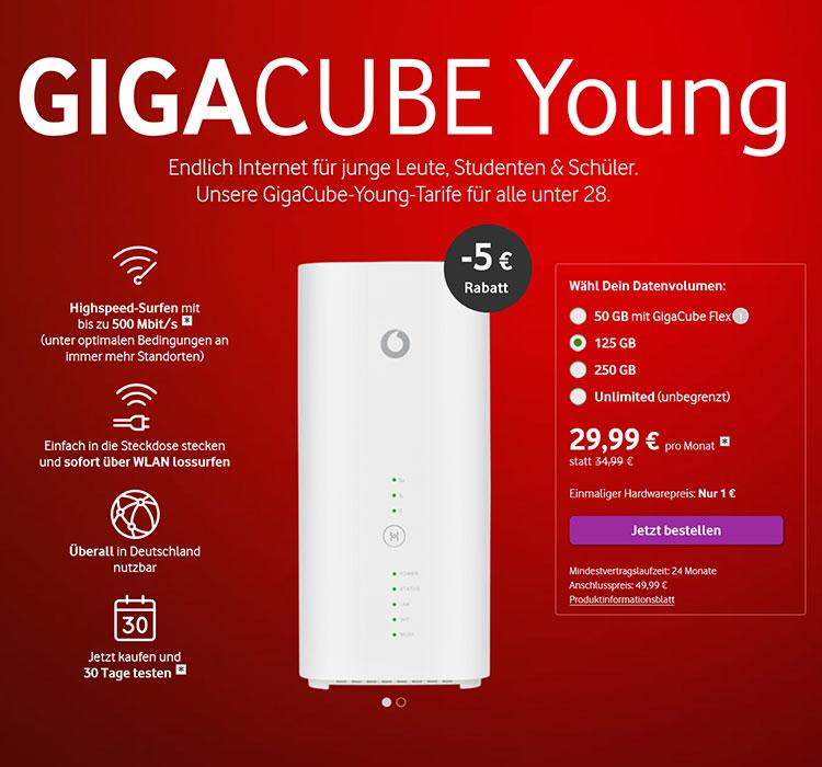 Vodafone GigaCube Young Angebot
