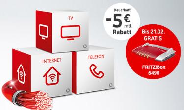 Screenshot Vodafone Online-Shop Kombi-Pakete Kabel