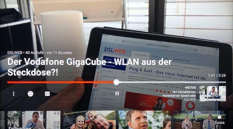 Vodafone GigaTV Net: YouTube-Video