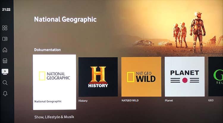 Vodafone GigaTV Net: Mediatheken Dokumentation