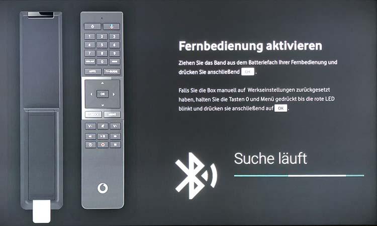 Vodafone GigaTV Net: Fernbedienung aktivieren