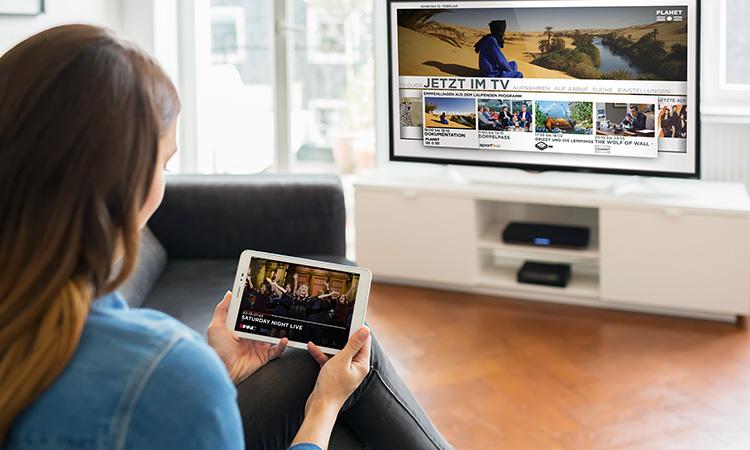 Vodafone Giga TV auf Tablet und Fernseher