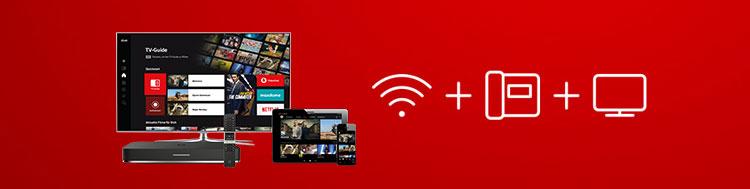 Vodafone Giga TV einzeln oder im Paket mit Internet & Telefon?