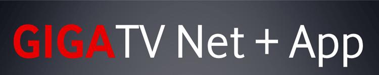 GigaTV Net und App - Schriftzug