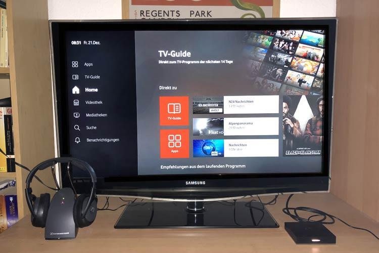 Vodafone GigaTV Net Box am Fernseher