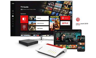 Vodafone TV im Online-Shop (Screenshot)