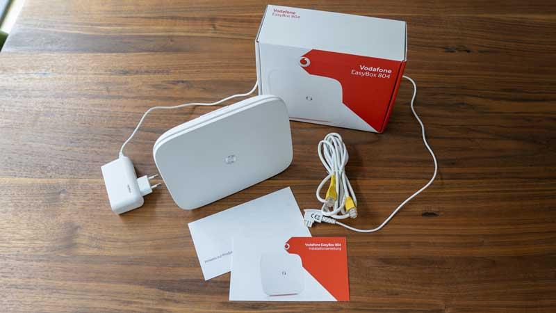 Vodafone DSL im Test: Lieferumfang Vodafone Easybox 804