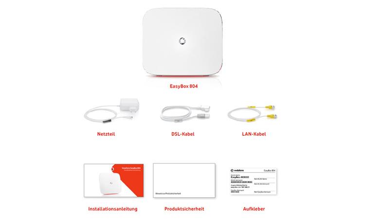 Lieferumfang der Vodafone Easybox 804