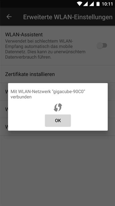 Vodafone Giga Cube - WLAN Verbindung herstellen (Schritt 2)