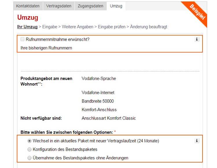 Beste Vodafone Sonderkundigung Umzug Vorlage