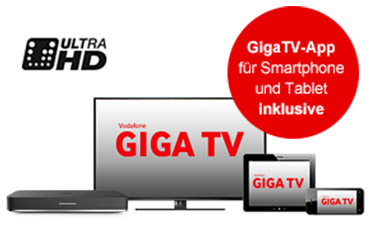 Screenshot Vodafone Online-Shop TV Pakete