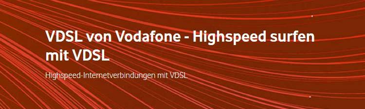 Vodafone VDSL Verfügbarkeit