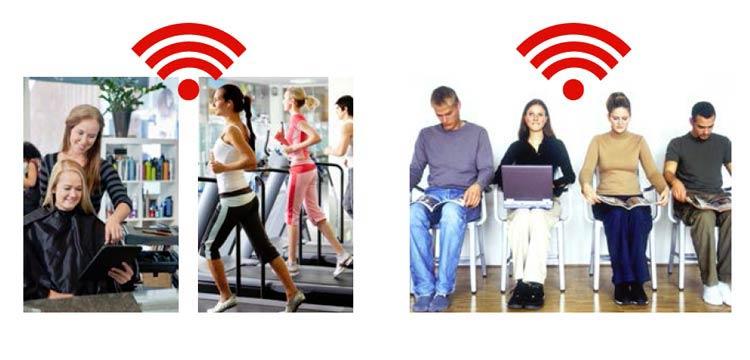 Vodafone WLAN Hotspot für Unternehmen mit Publikumsverkehr
