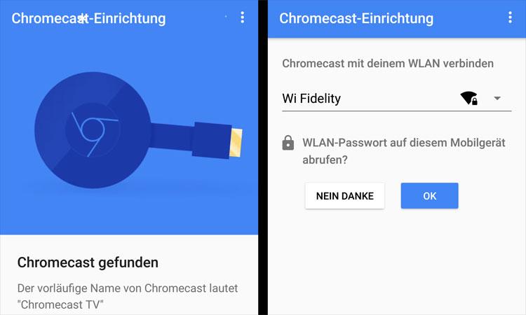 Einrichtung über die Google Home App