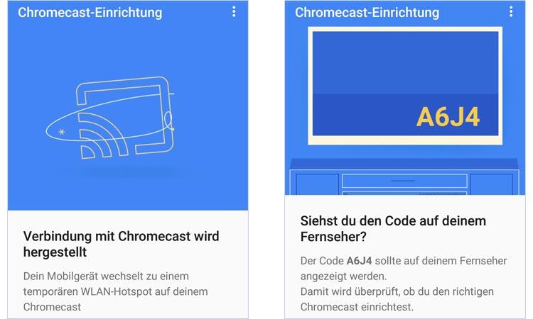 Screenshots Google Home App: Chromecast Installation