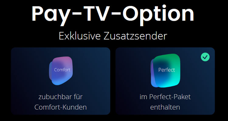 Waipu TV Pay-TV Option - zubuchbar oder inklusive