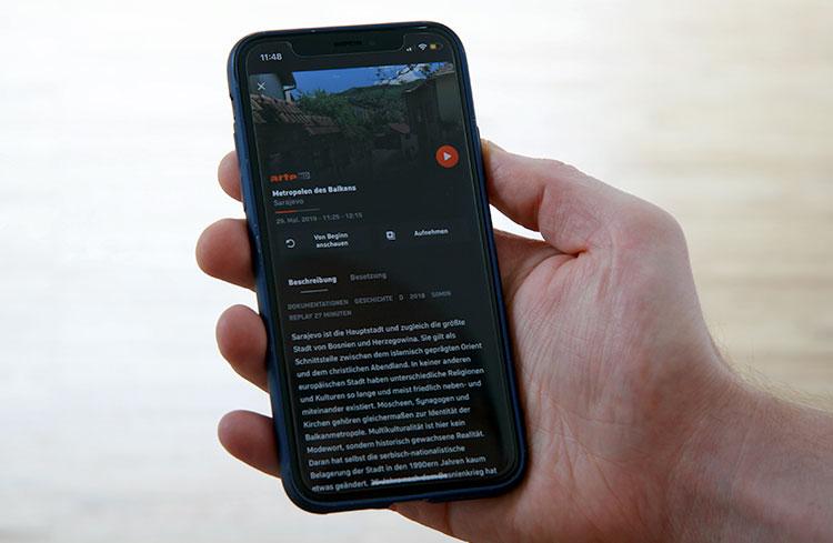 Zattoo App auf dem iPhone