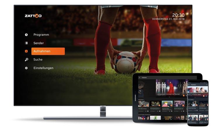 Zattoo auf Samsung Smart-TV