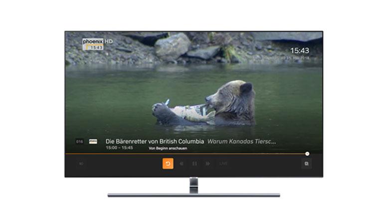 Zattoo auf Samsung TV: Restart-Funktion