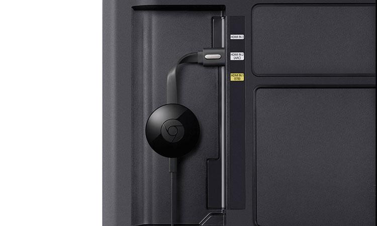 Zattoo: Chromecast am HDMI-Port des Fernsehers