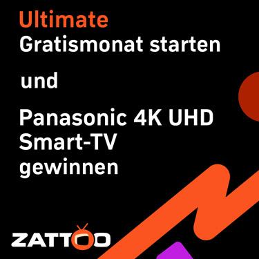 Zattoo Deal mit Panasonic 4K UHD Smart-TV Gewinnspiel