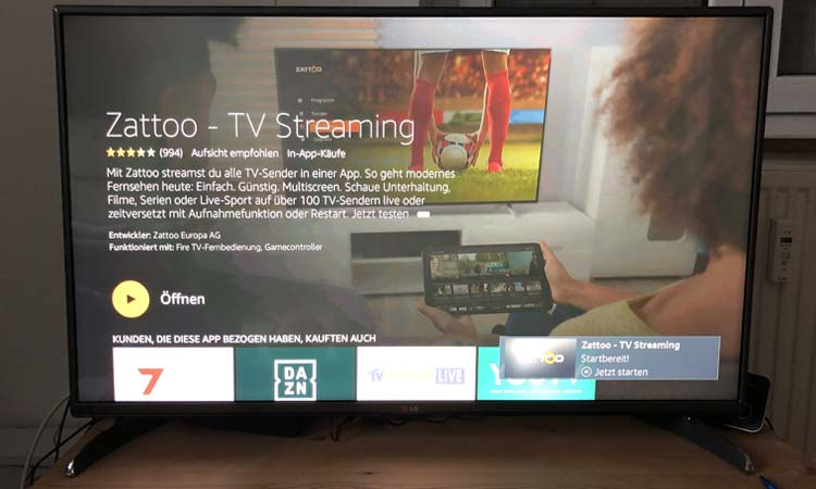 Zattoo Fire TV Installation