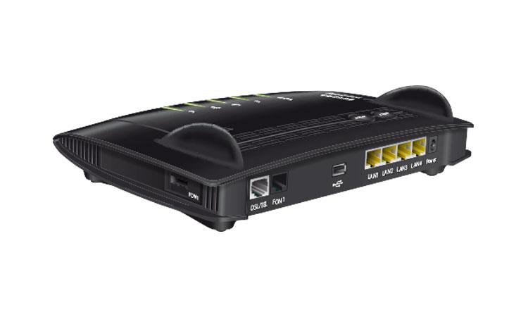 1&1 HomeServer VDSL mit seitlichem Telefonanschluss