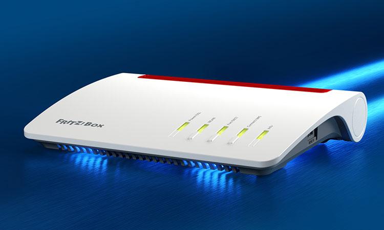 AVM Fritz!Box 7590: Internetverbindung hergestellt