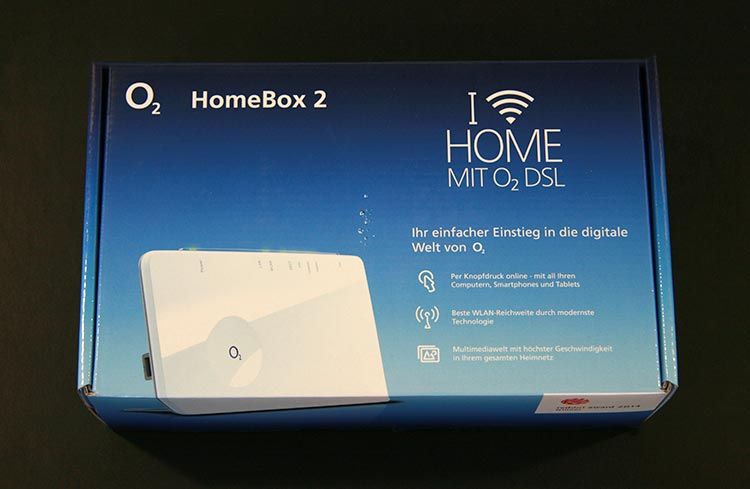 o2 Homebox 2 Verpackung