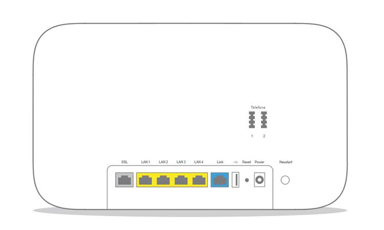 Telekom Speedport Smart 3 Rückseite mit Anschlüssen