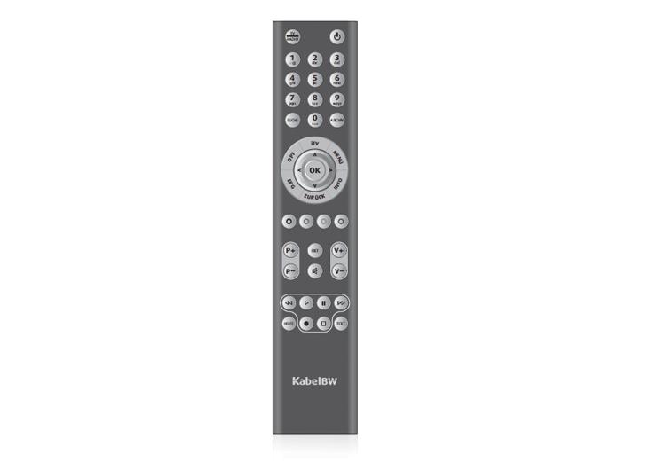 Kabel BW HD Receiver Fernbedienung
