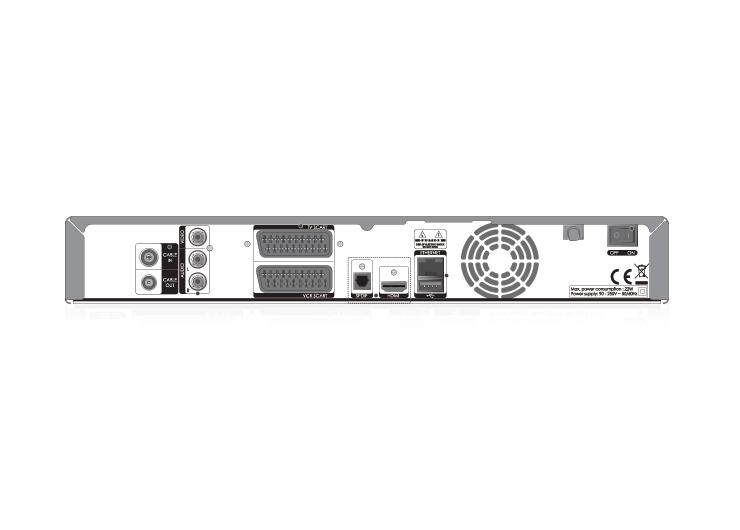 Kabel BW HD Recorder Rückseite