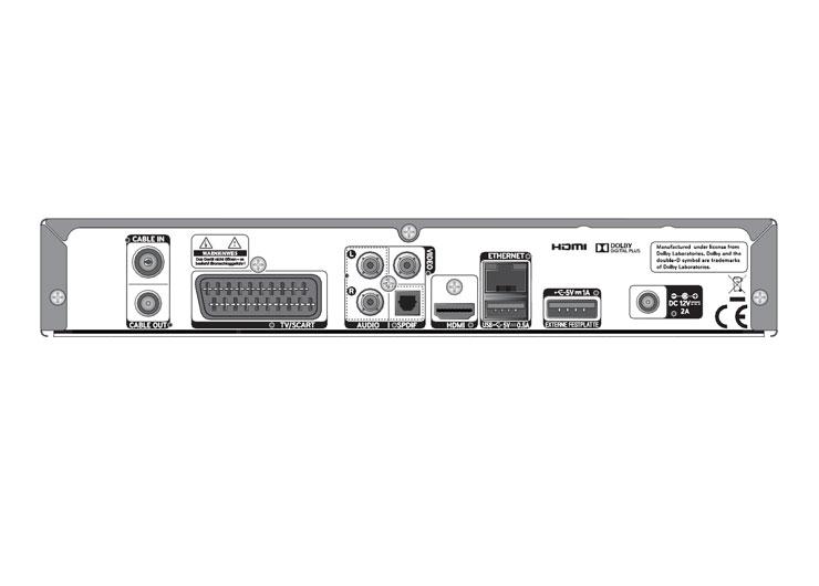 Tele Columbus Humax HD Receiver Anschlüsse (groß)