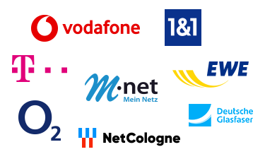 DSL Anbieter Logos Collage