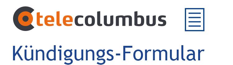 Tele Columbus Kündigung Den Tele Columbus Vertrag Online Kündige