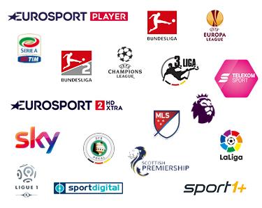 Logos Sportsender und Fußball Ligen