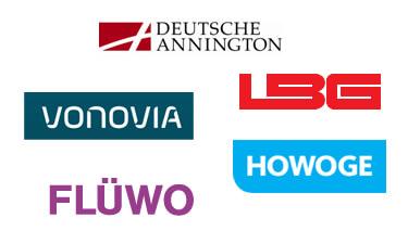 Logos Wohnungswirtschaften mit Telekom Vertrag
