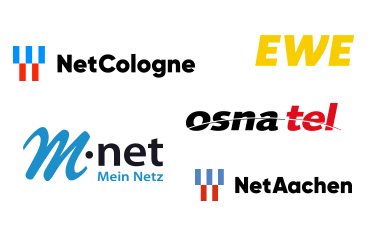 Logos regionaler DSL Anbieter (Collage)