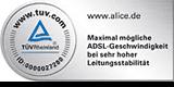 Alice TÜV Siegel