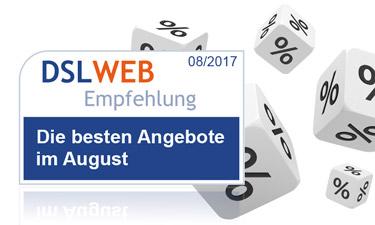 Die besten DSL Angebote des Monats: die DSLWEB Empfehlungen im Überblick