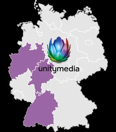 Logo Unitymedia Verfügbarkeitsgebiet