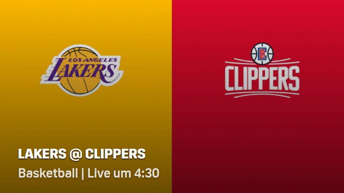 NBA Lakers Clippers live bei DAZN