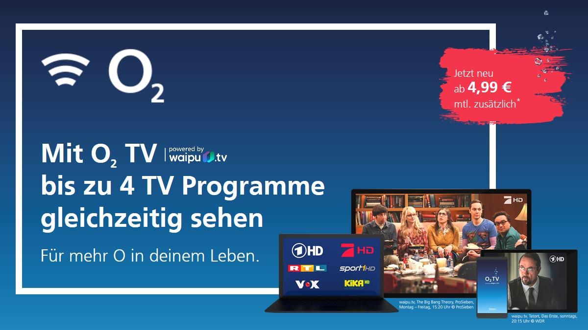 Neues Angebot: o2 TV gestartet