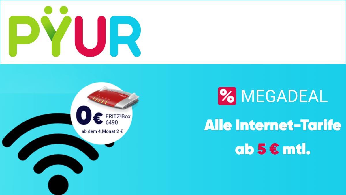 PYUR Angebote jetzt ab 0,- € mit AVM Fritz!Box