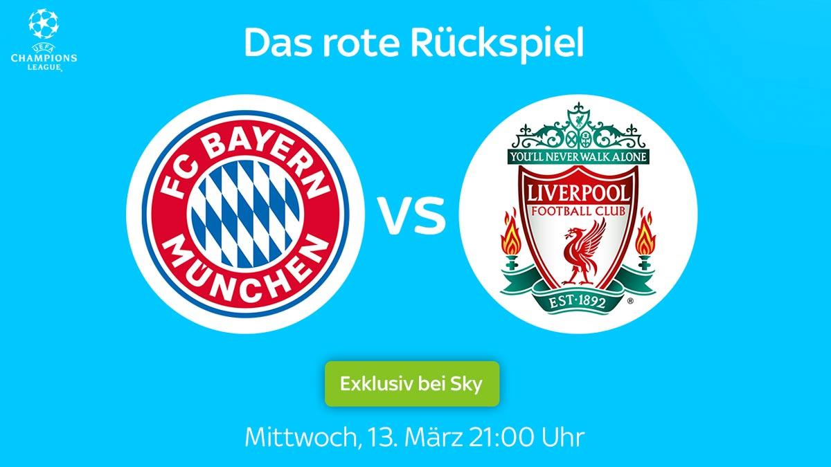 Exklusiv bei Sky: Bayern vs. Liverpool