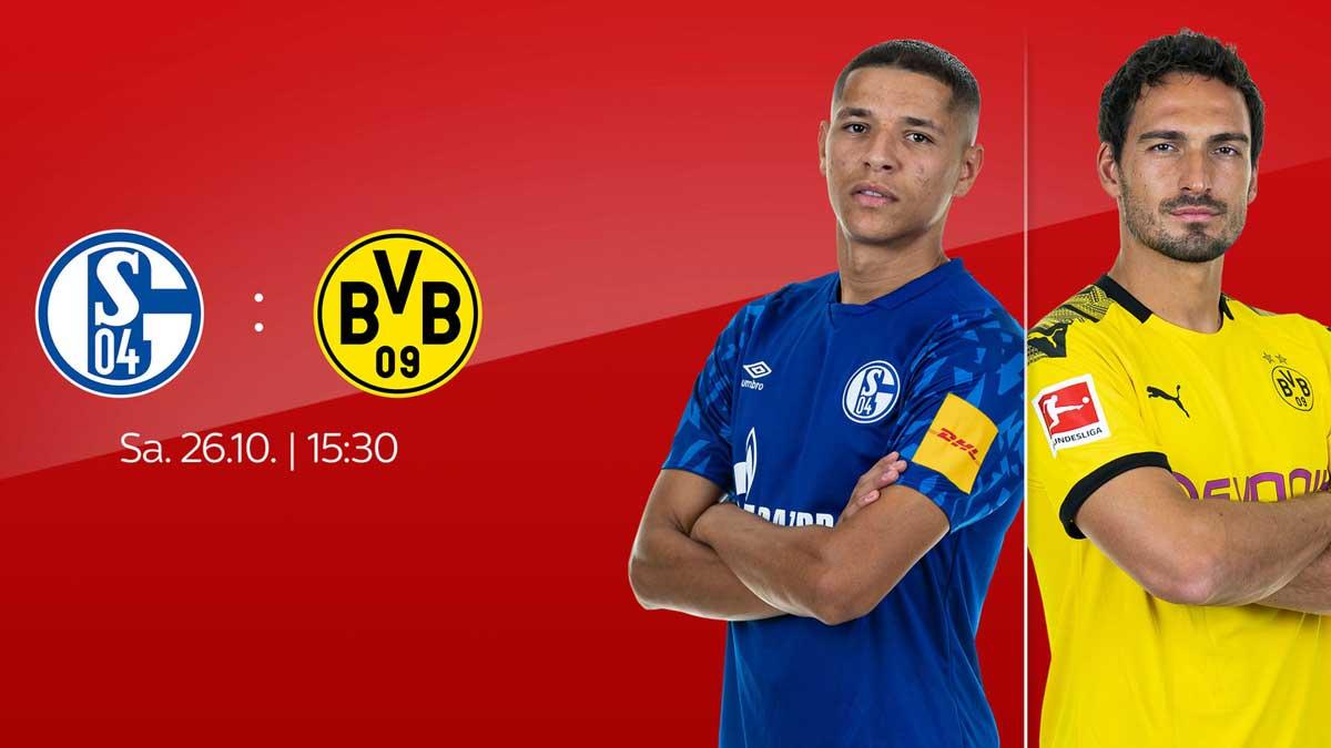 Schalke gegen Dortmund live bei Sky am 9. Spieltag