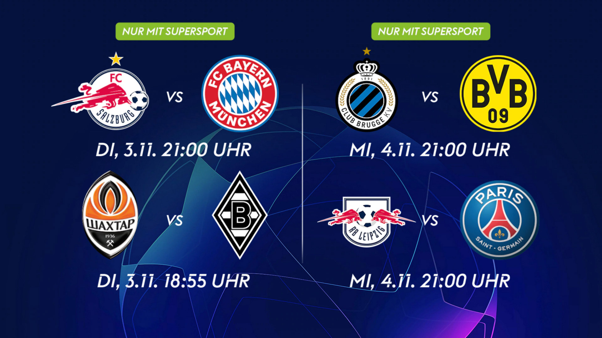 Sky Programm Champions League