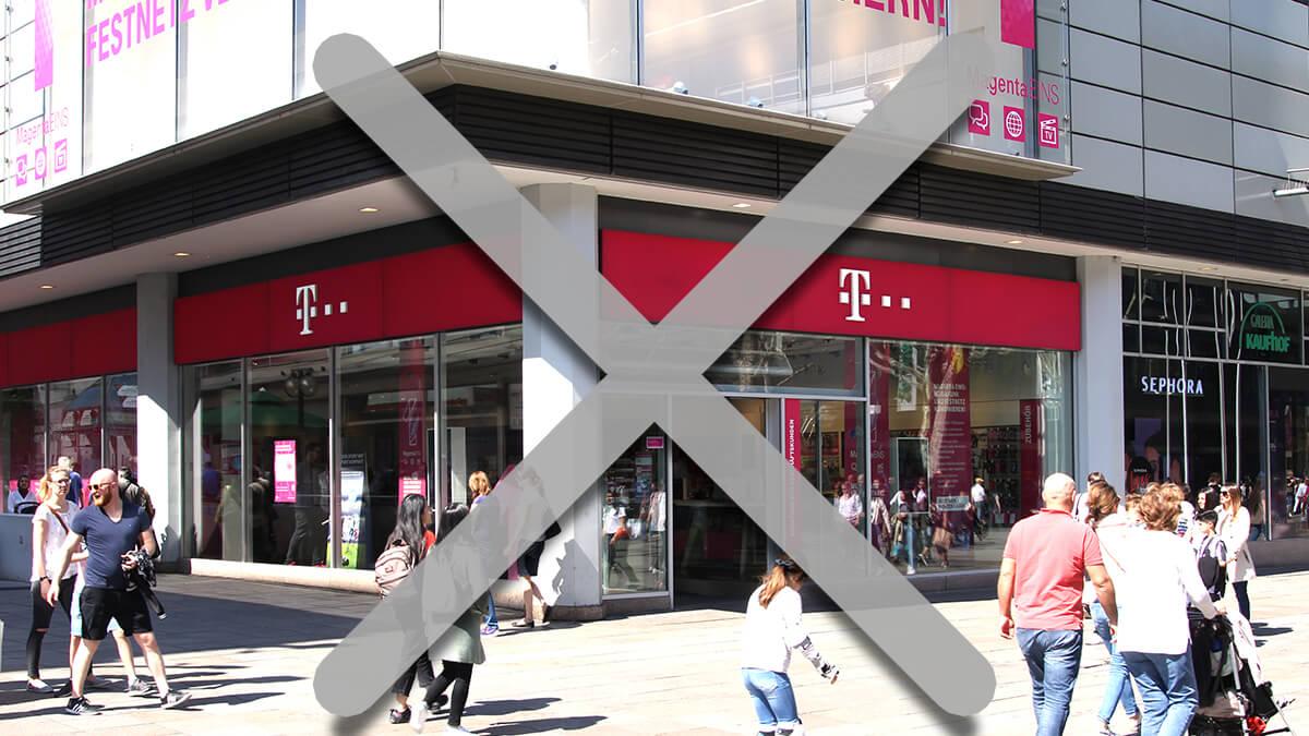 Telekom Shop aufgrund der Corona-Krise geschlossen